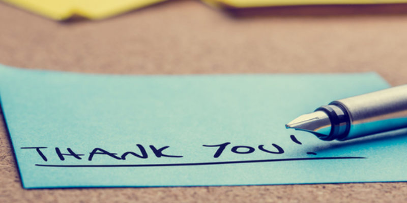Creating A Culture Of Thank You